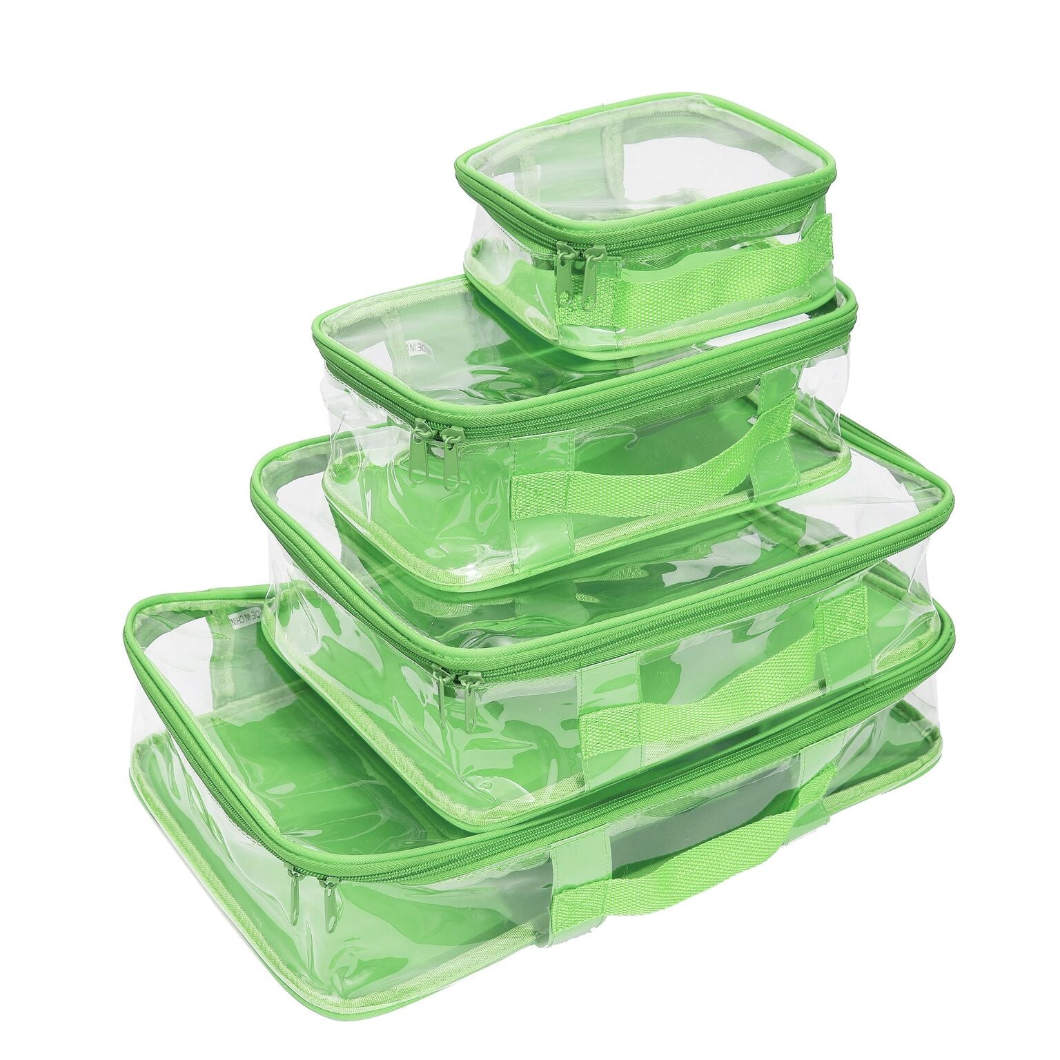 Packing cube set in green