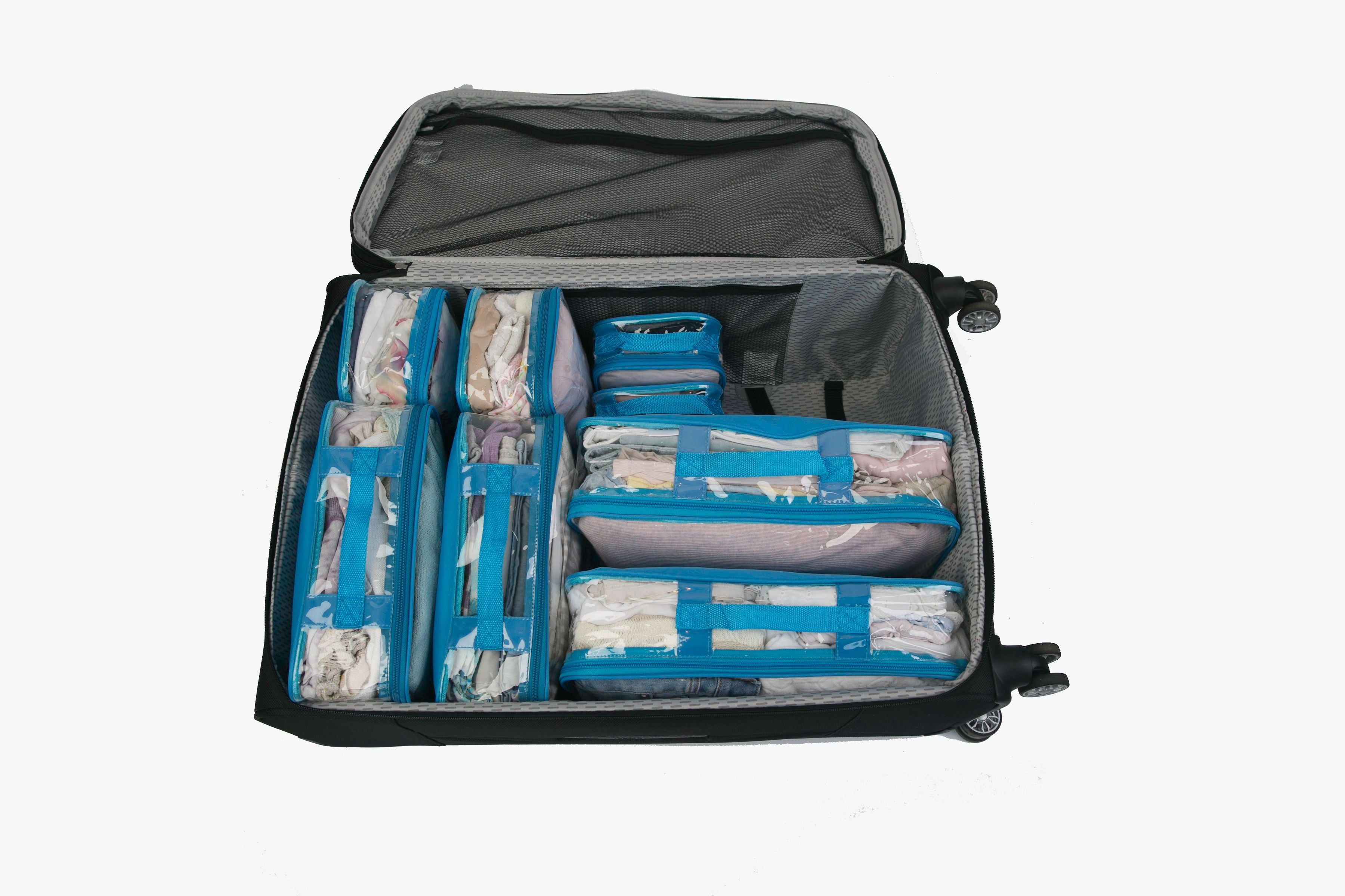 Suitcase with packing cubes