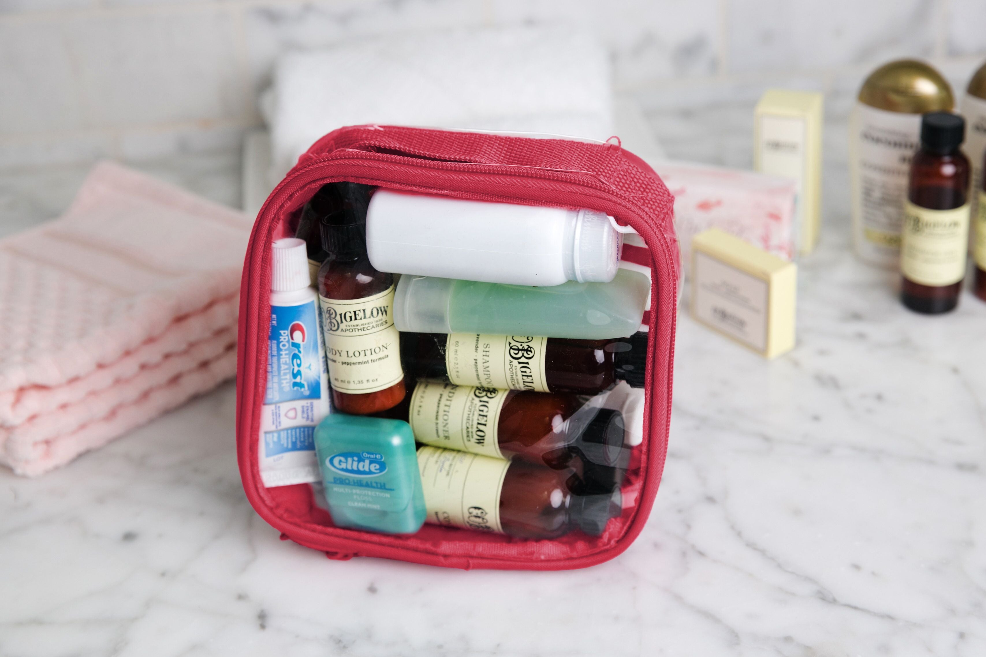 TSA approved toiletries bag