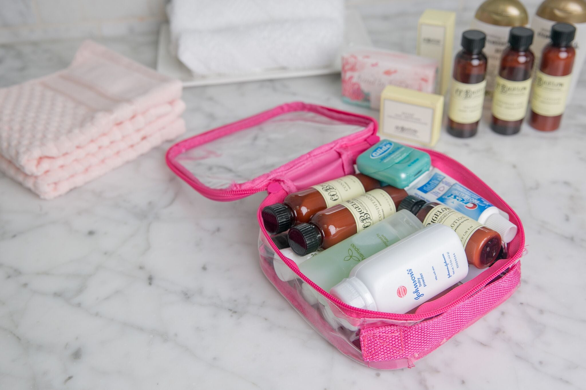 TSA approved clear toiletry bag