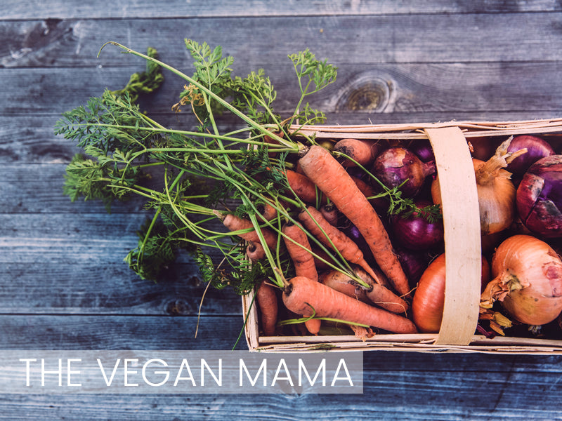 Carrots and onions, the vegan mom essentials