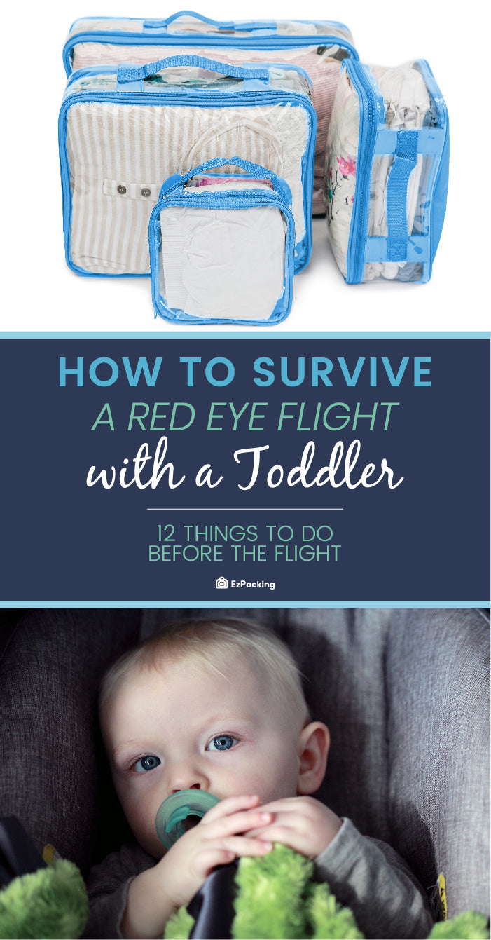 Guide for surviving a red eye flight with your toddler