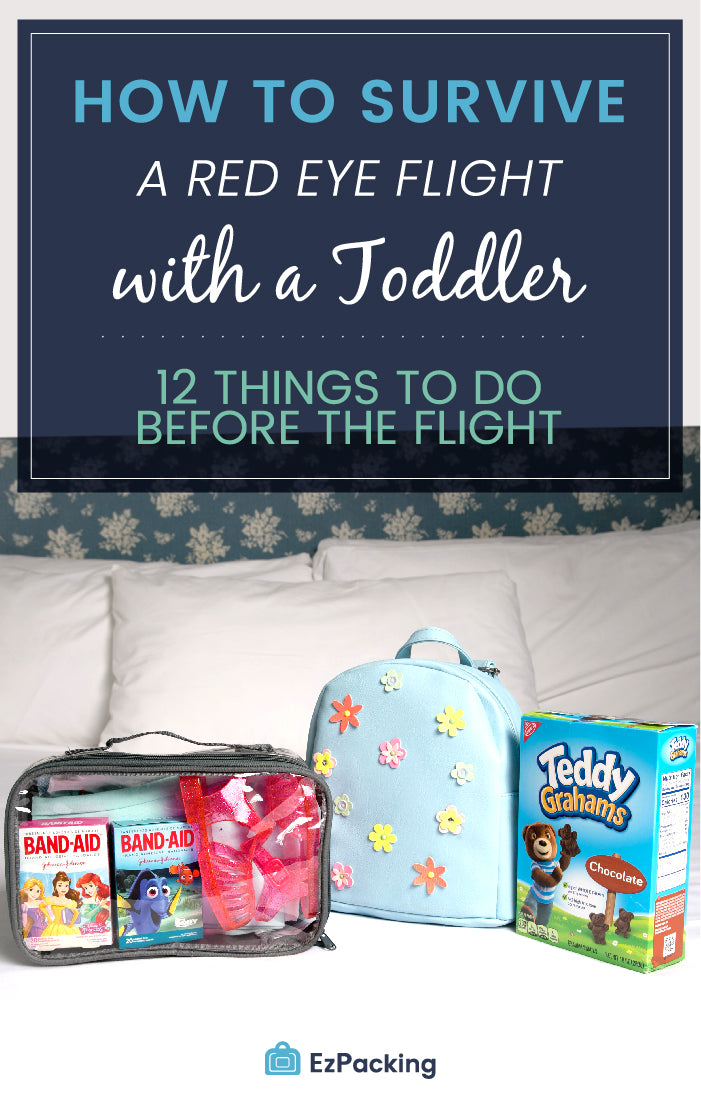 Tips for red eye flight with toddler