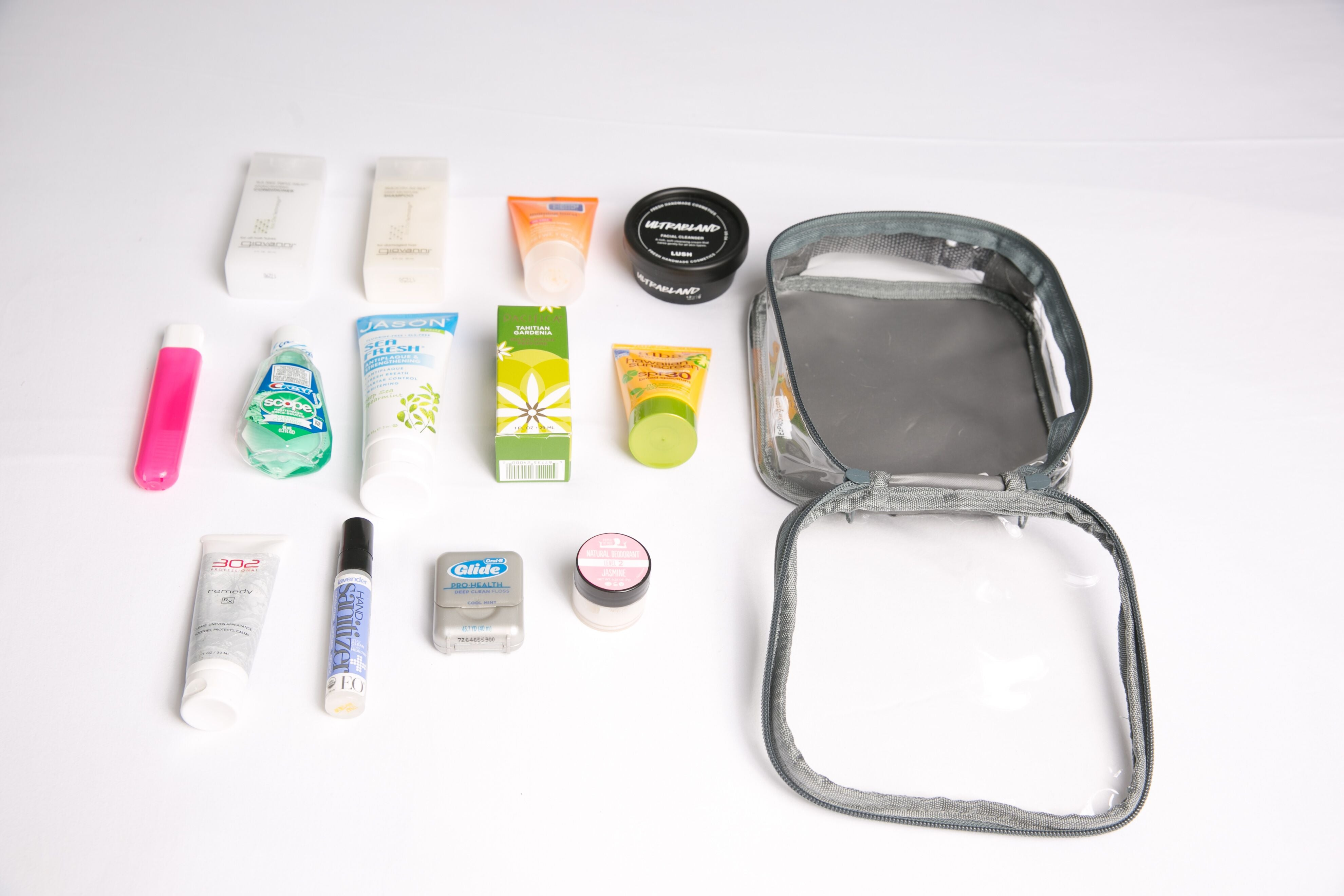 How to prepare toiletries before packing into suitcase