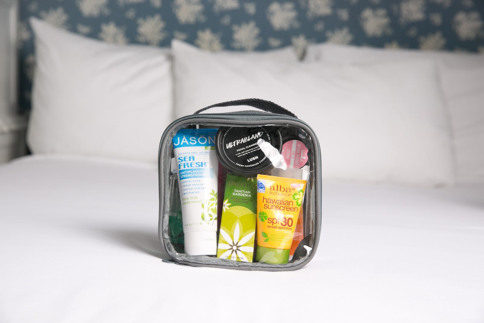 What products can I bring in TSA-approved toiletry bag
