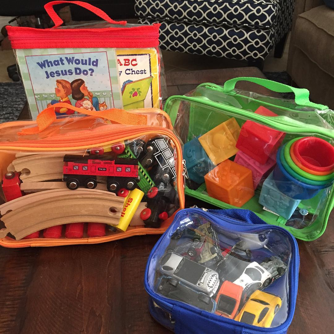 Kids' Toys for travel in Clear Cubes