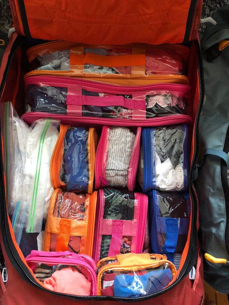 Travel cubes for backpacking