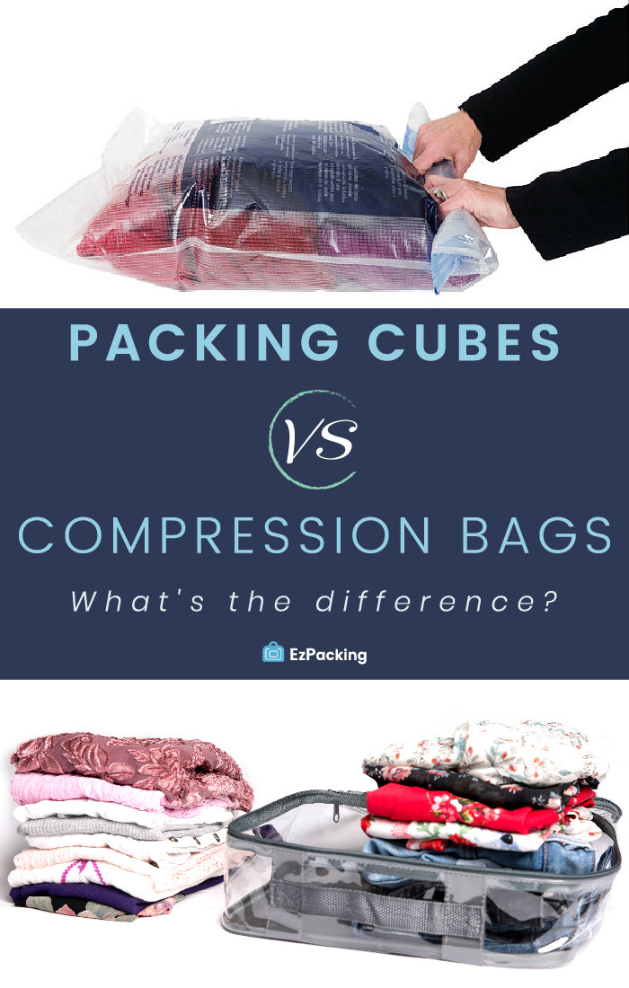 Packing cubes and compression sacks
