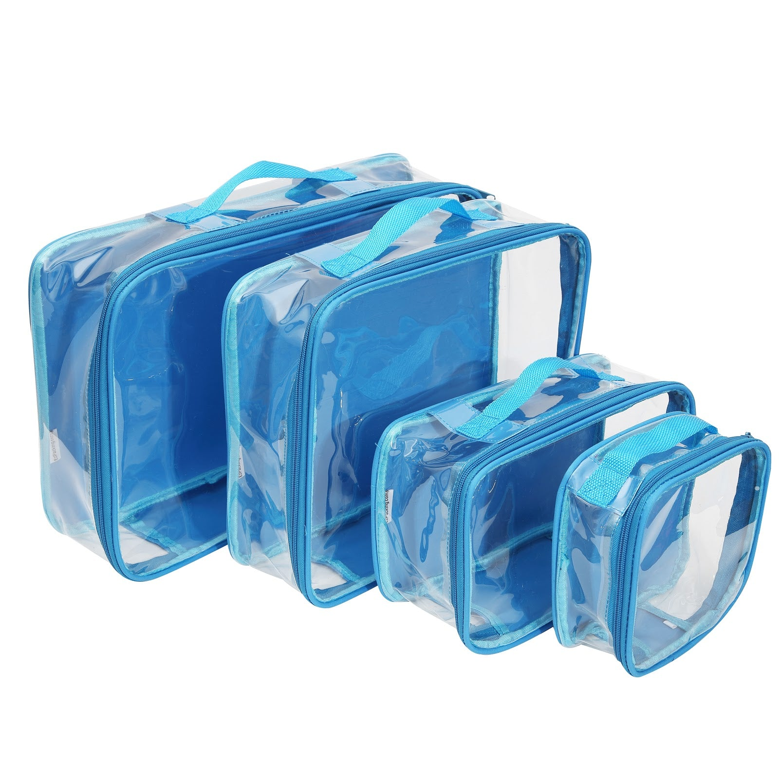 Turquoise packing cubes for travel backpack