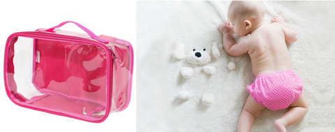 Pink EzPacking Small Cube perfect for baby diapers