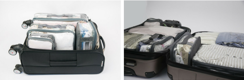 Clear packing cubes for missionary preparation