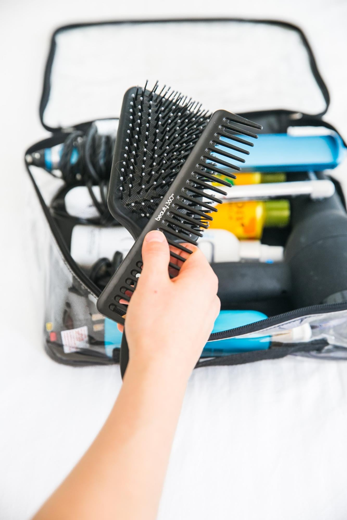 Hair brush for must bring hair product for travel