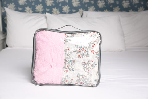 Medium-sized EzPacking cube with dresses inside