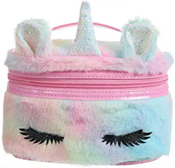 Cute and fluffy small makeup bag for girls