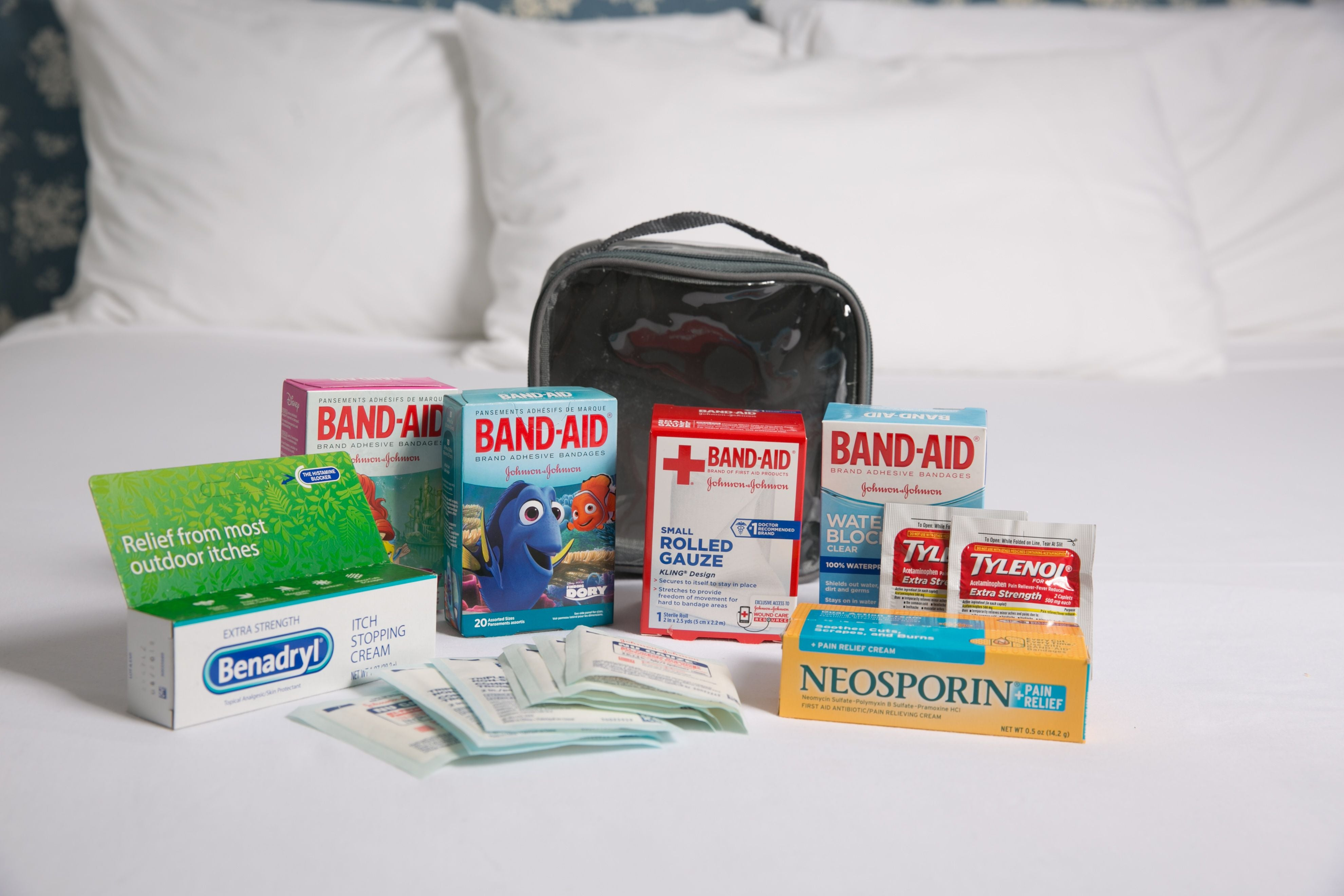 first aid kit in an extra small cube