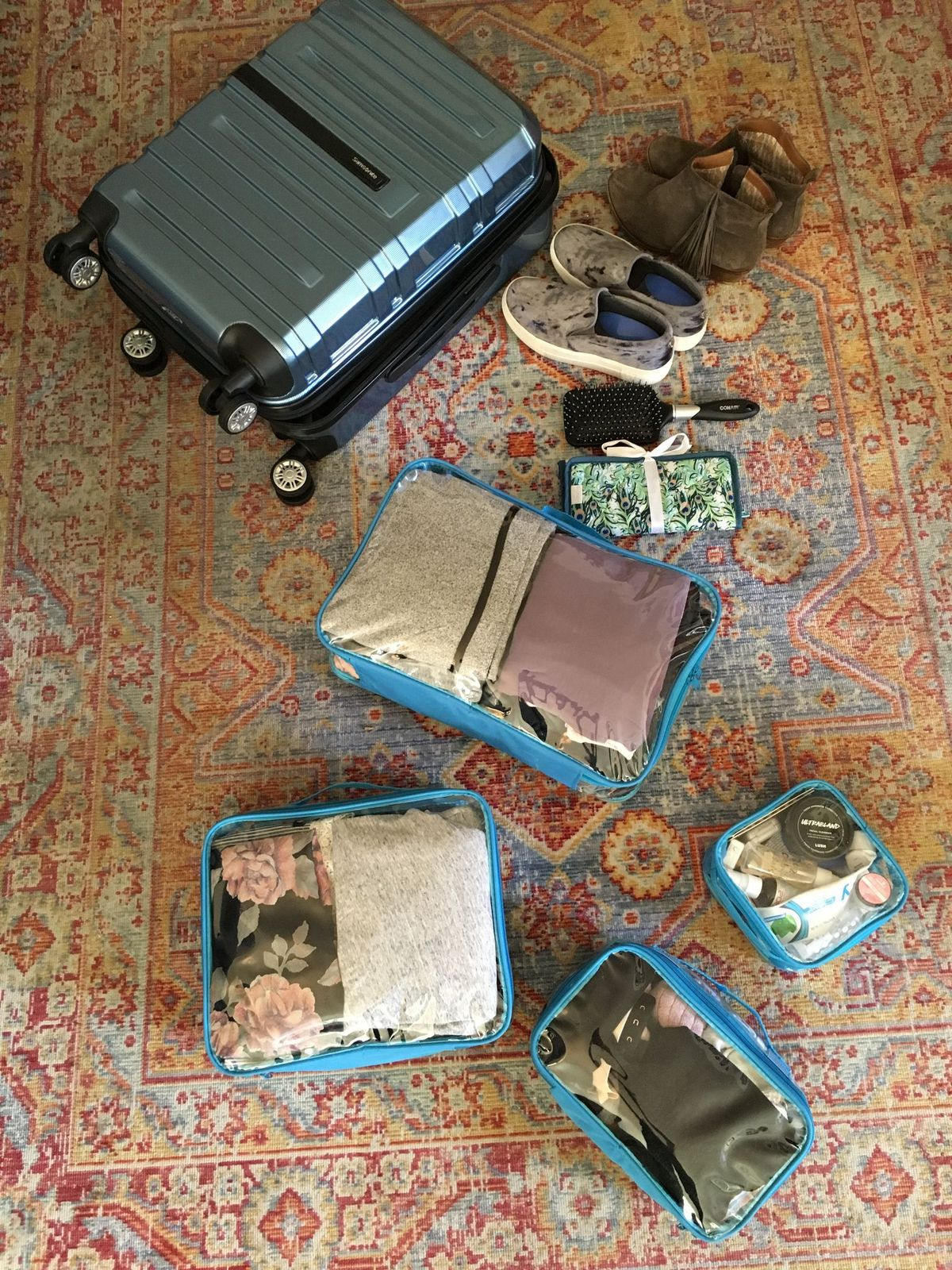 Packing with a Starter Set in a four-wheeled suitcase