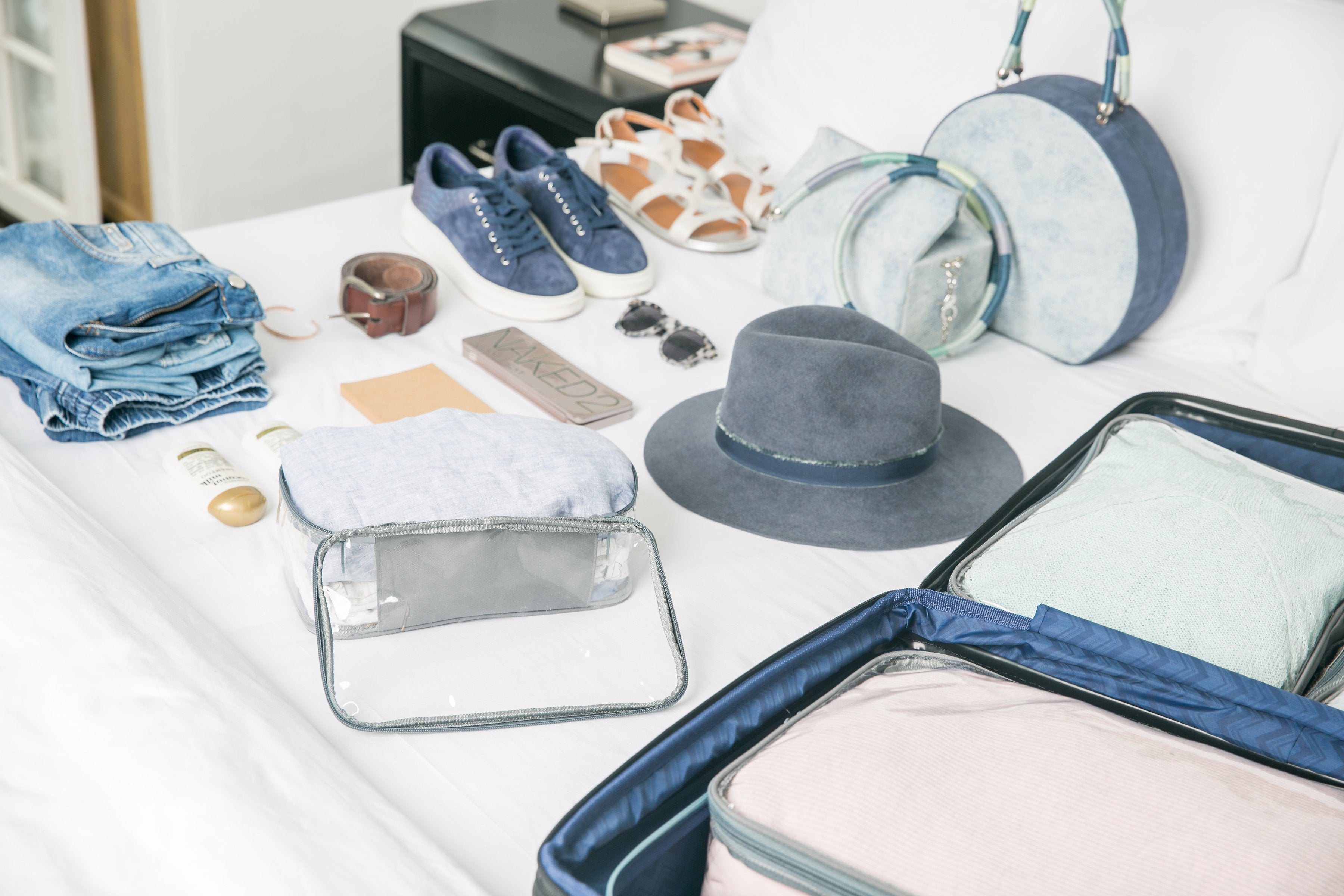 Shoes and other travel essentials
