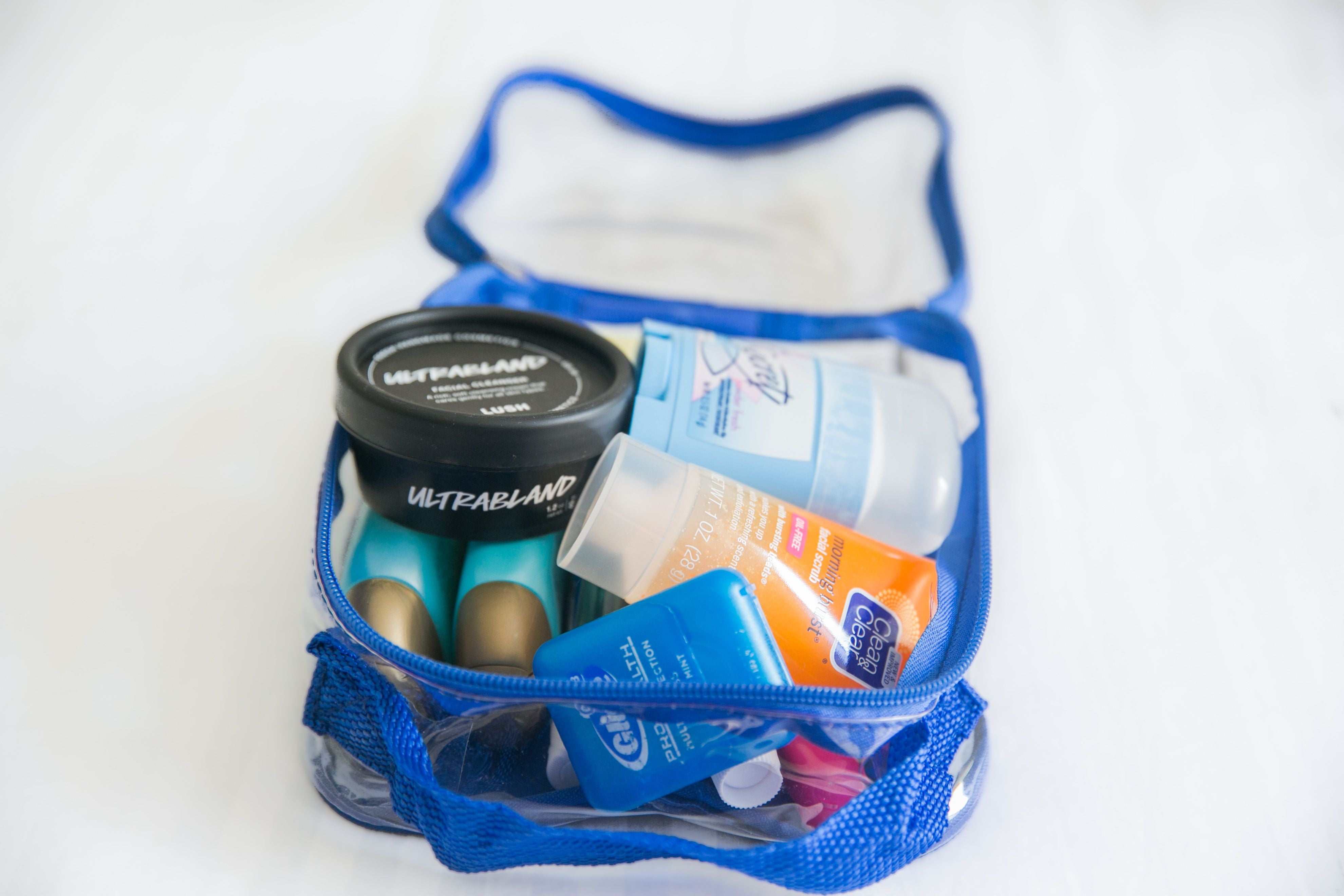 hygiene kit in an extra small cube