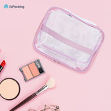Transparent makeup pouch organizer