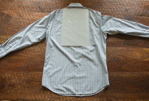 Clothing and t shirt folding board with instructions
