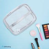 Cute clear makeup bag for suitcase