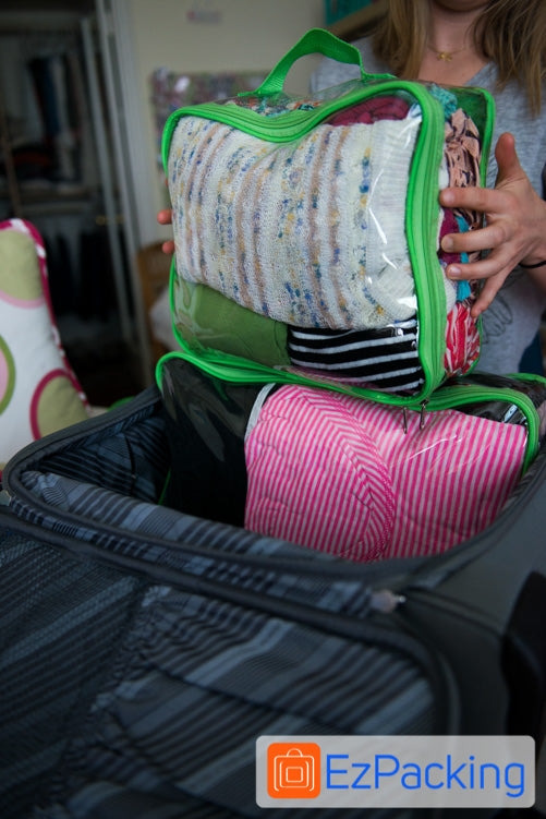 The EzPacking Starter Set is perfect for packing a carry on suitcase.