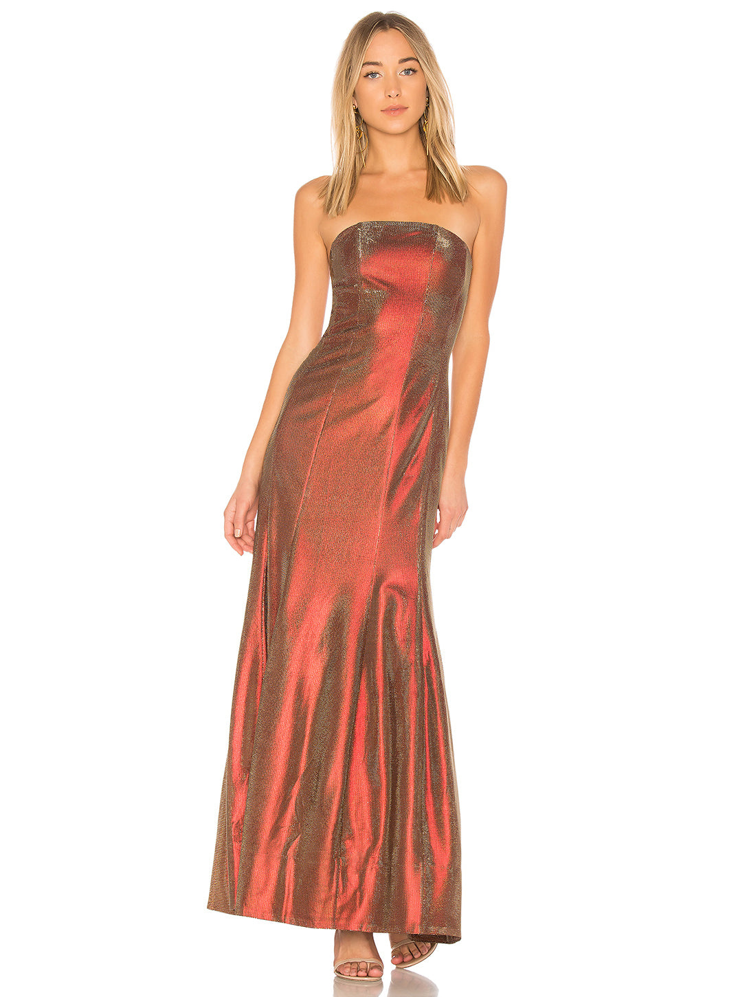Abra Gown in Red/Gold | Lovers + Friends - Lovers + Friends