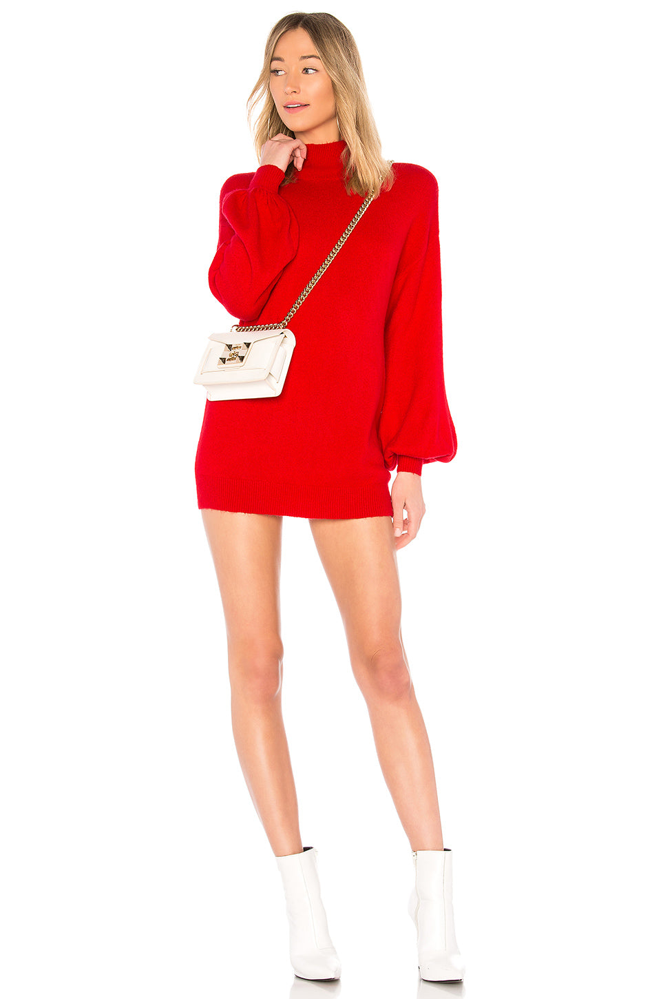 Blaine Sweater Dress in Red. - size M (also in L,S,XS) Lovers + Friends