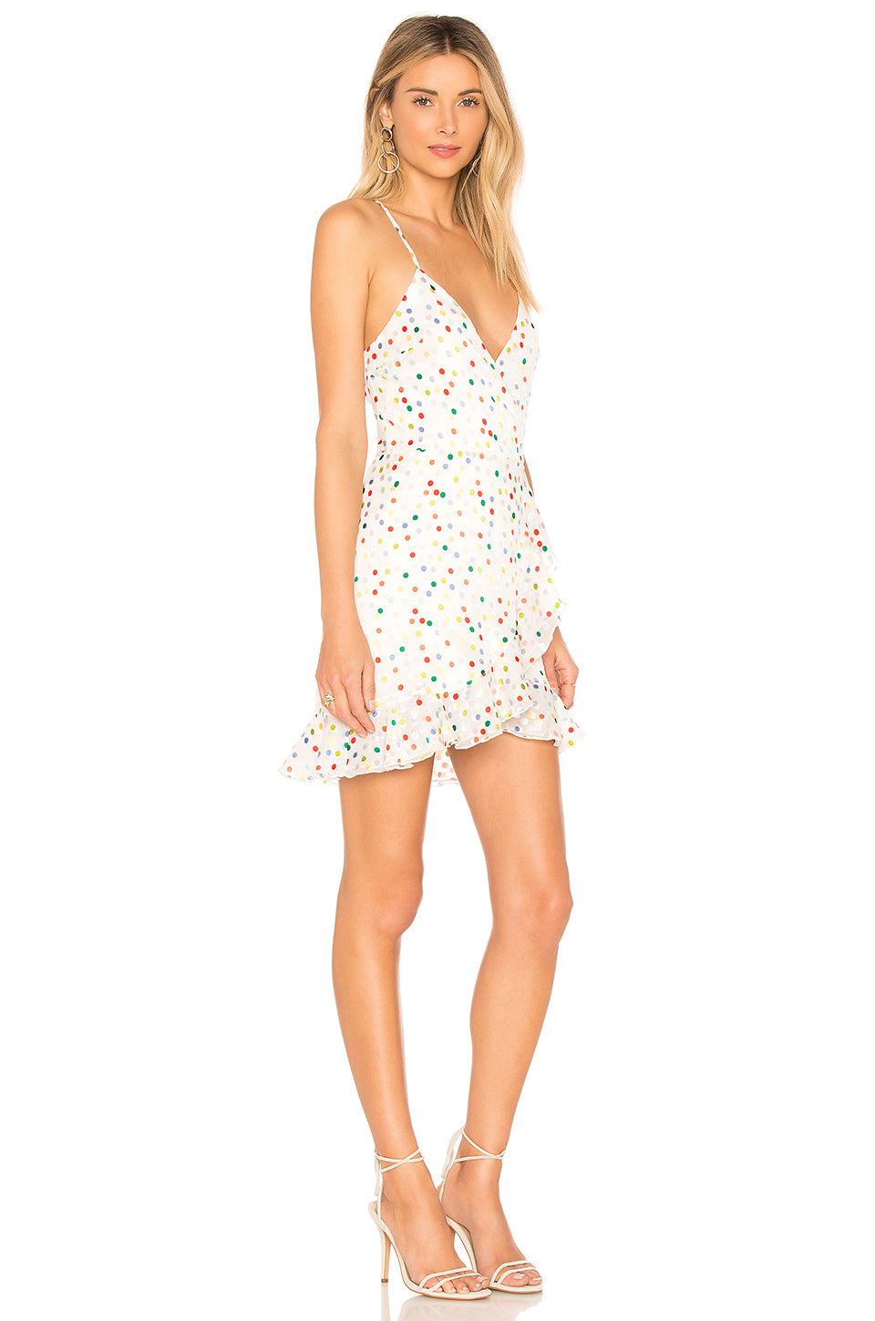 Gigi Wrap Dress in White. - size XS (also in L,M,S,XXS) Lovers + Friends