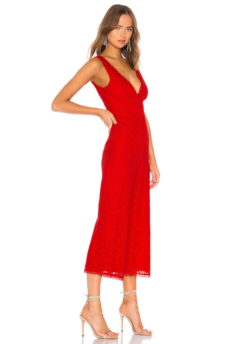Kenneth Jumpsuit in Red. - size M (also in L,S,XL,XS,XXS) Lovers + Friends