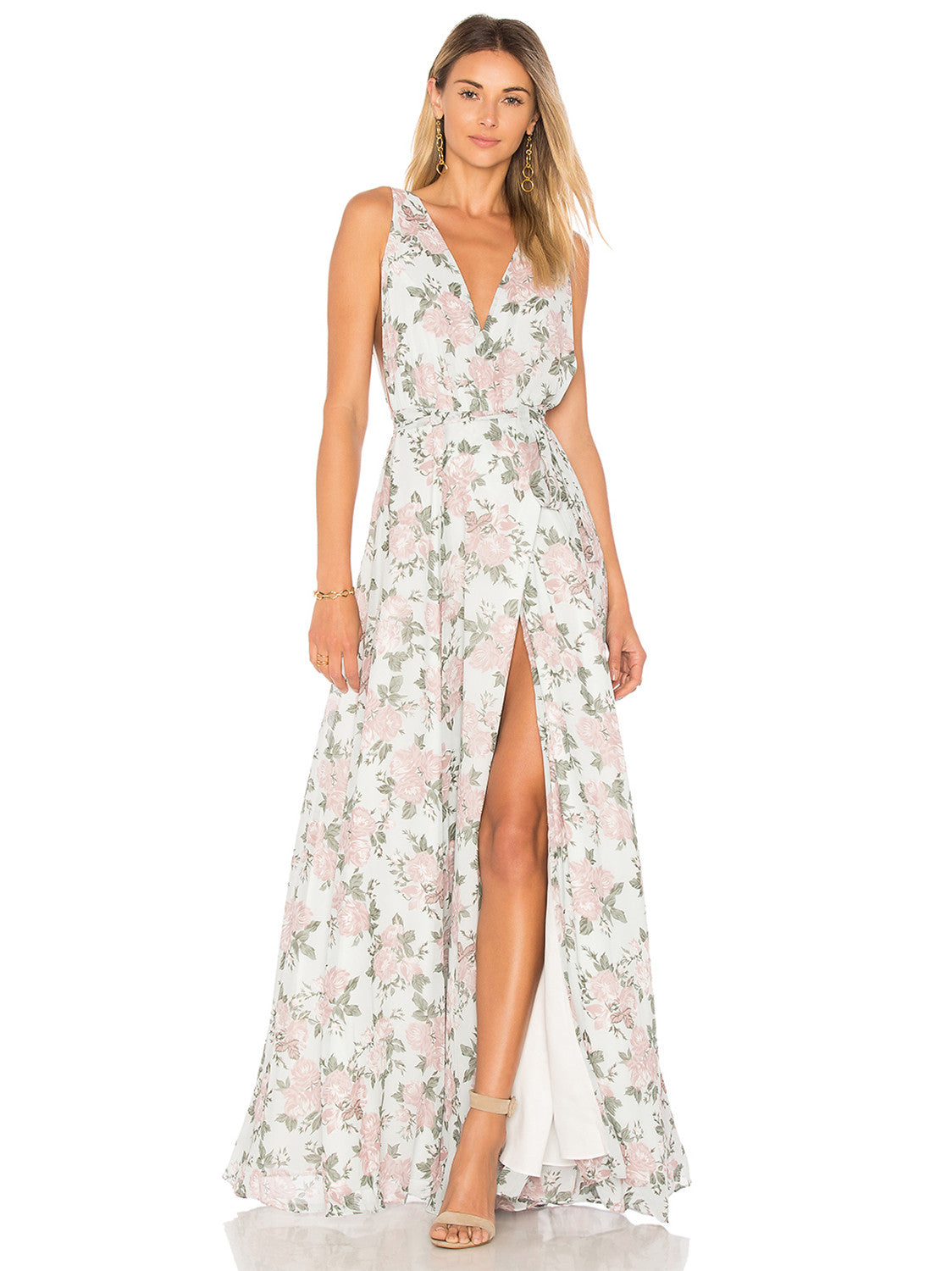 Leah Gown in Floral | Lavender | Lovers + Friends - Lovers + Friends