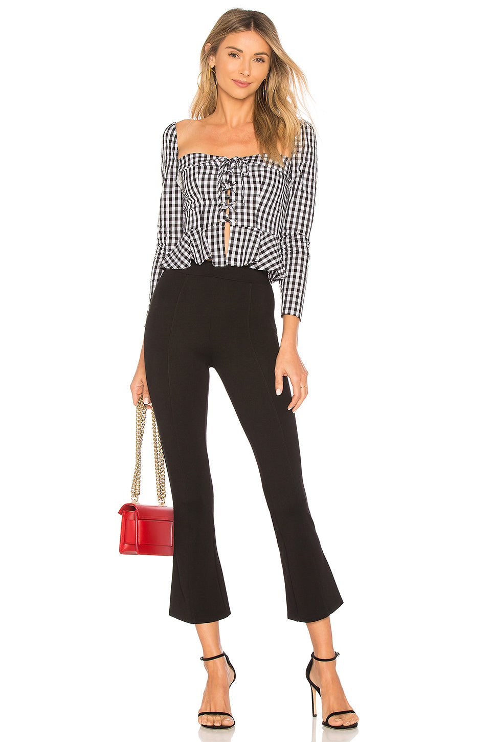 Zoey Wide Leg Pants in Black & White. - size M (also in L,S,XS,XXS) Lovers + Friends