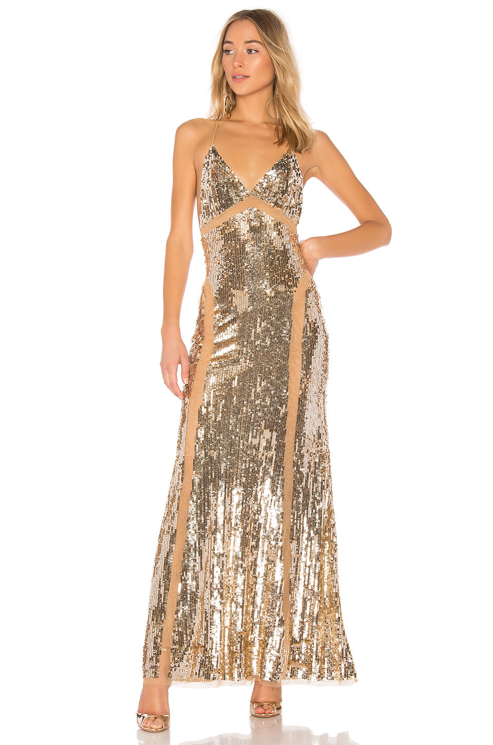 Loyal Gown in Gold | Lovers + Friends - Lovers + Friends