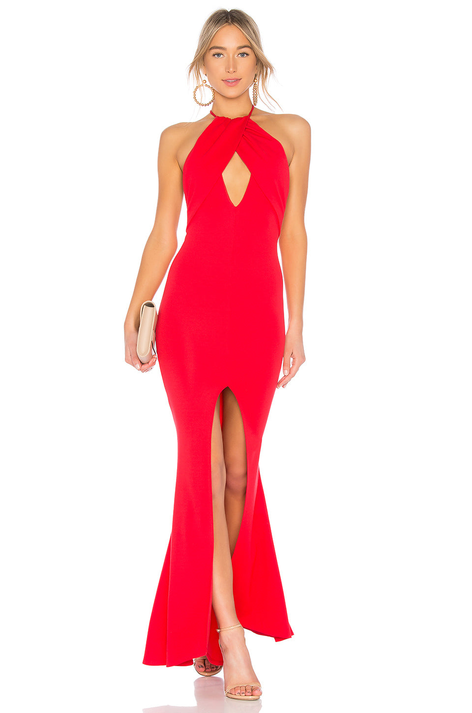 Rosa Gown in Red. - size M (also in L,S,XS) Lovers + Friends