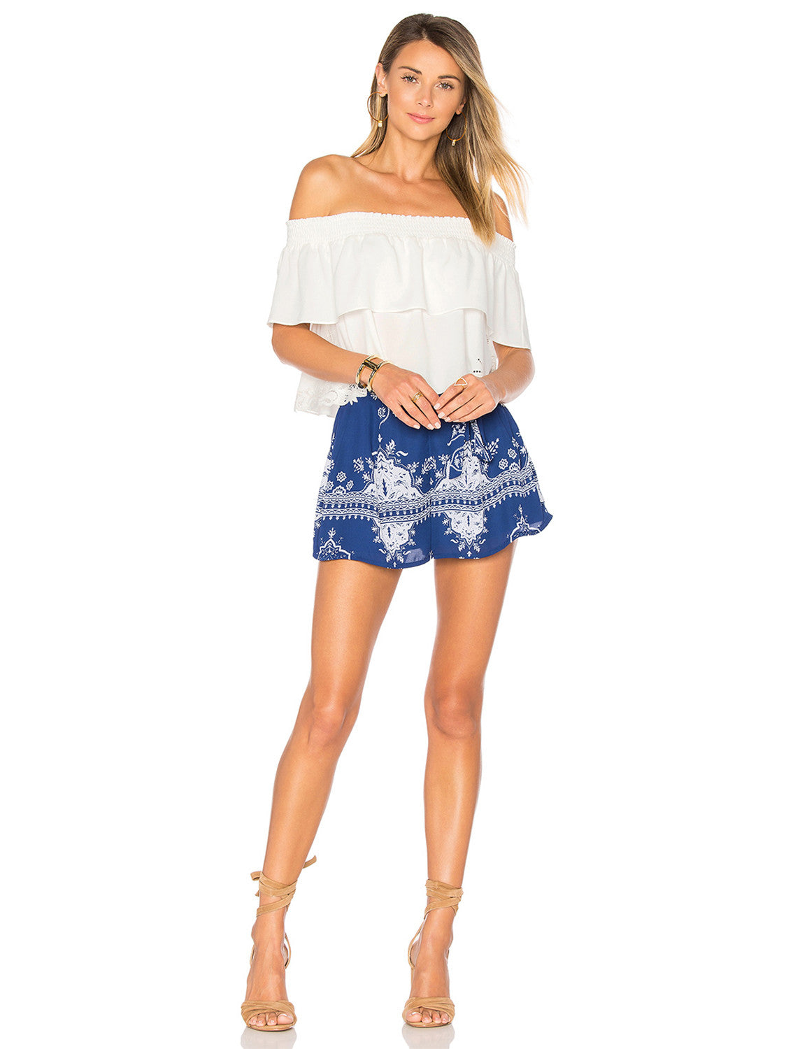 Sasha Short in Blue. - size M (also in S,XS) Lovers + Friends
