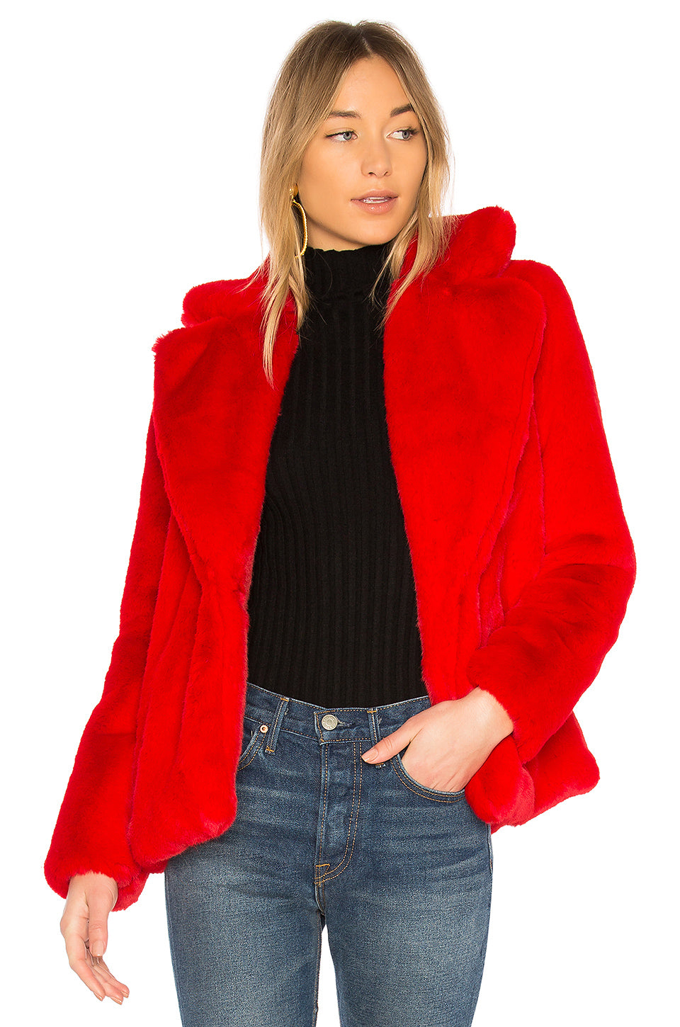 Amazing Price Cheap Online Valentine Faux Fur Coat in Red. - size S (also in XS) Lovers + Friends Sale Cheap 9yddL8o