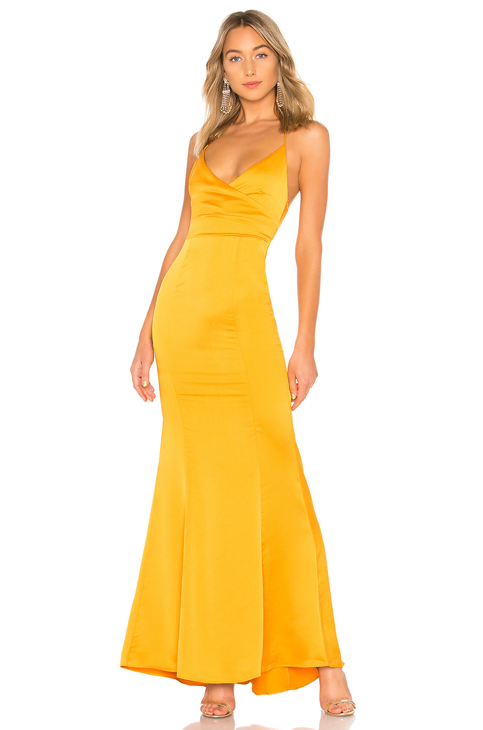 Vilailuck Gown in Golden Yellow | Lovers + Friends - Lovers + Friends