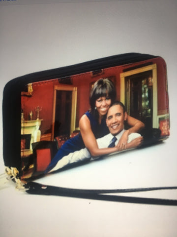 Black Michelle Obama Wallet