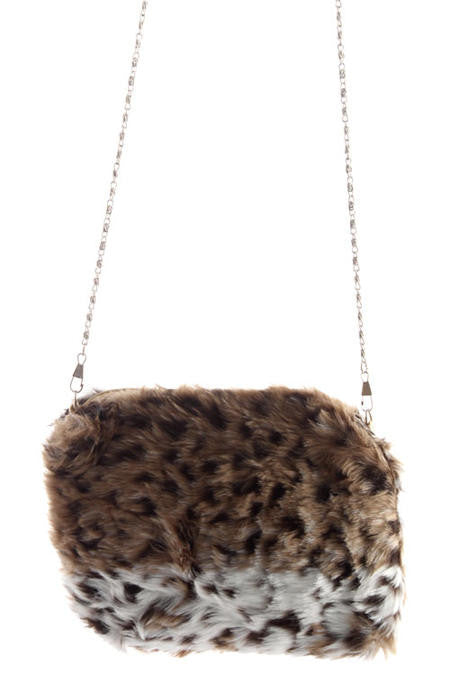 Leopard Faux Mink Shoulder Bag