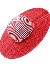 Red and White Floppy Hat