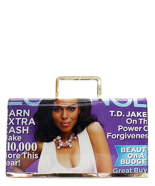 Trendy Blue Magazine Clutch.