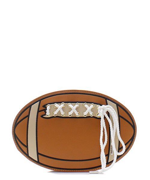 Brown Fashion Faux Leather Football with Lace Messenger Bag