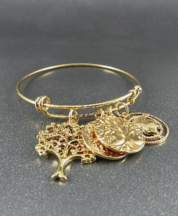 Tree of Life Goldtone Bracelet