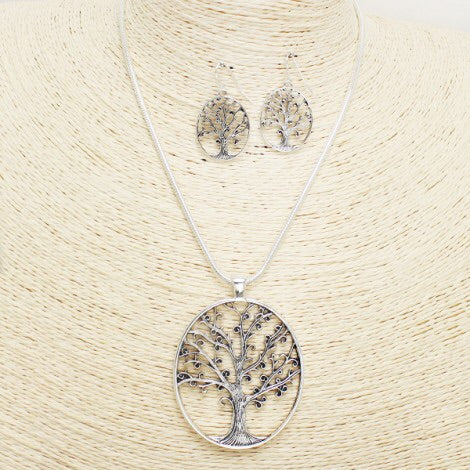 Cute Tree of Life Necklace set
