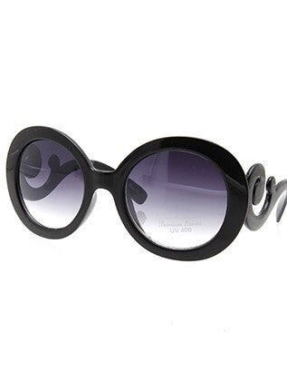 Swirl Black Sunglasses
