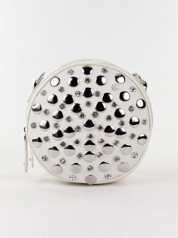 Round Studded Crossbody Bag