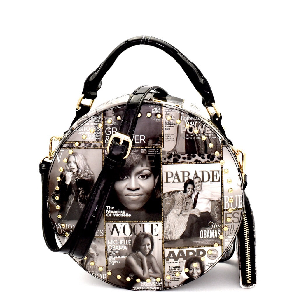 Trendy Magazine  Round Satchel with matching Wallet