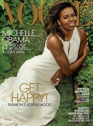 Green and Ivory Michelle Obama Magazine Clutch