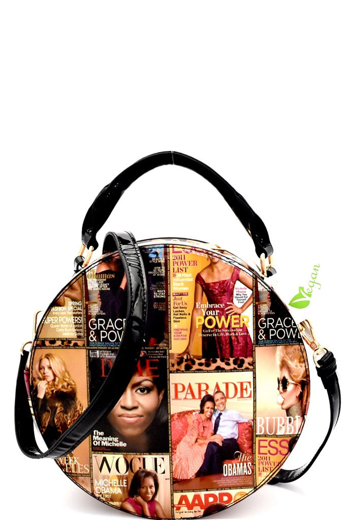 Stylish Magazine Multi Round Satchel with matching wallet