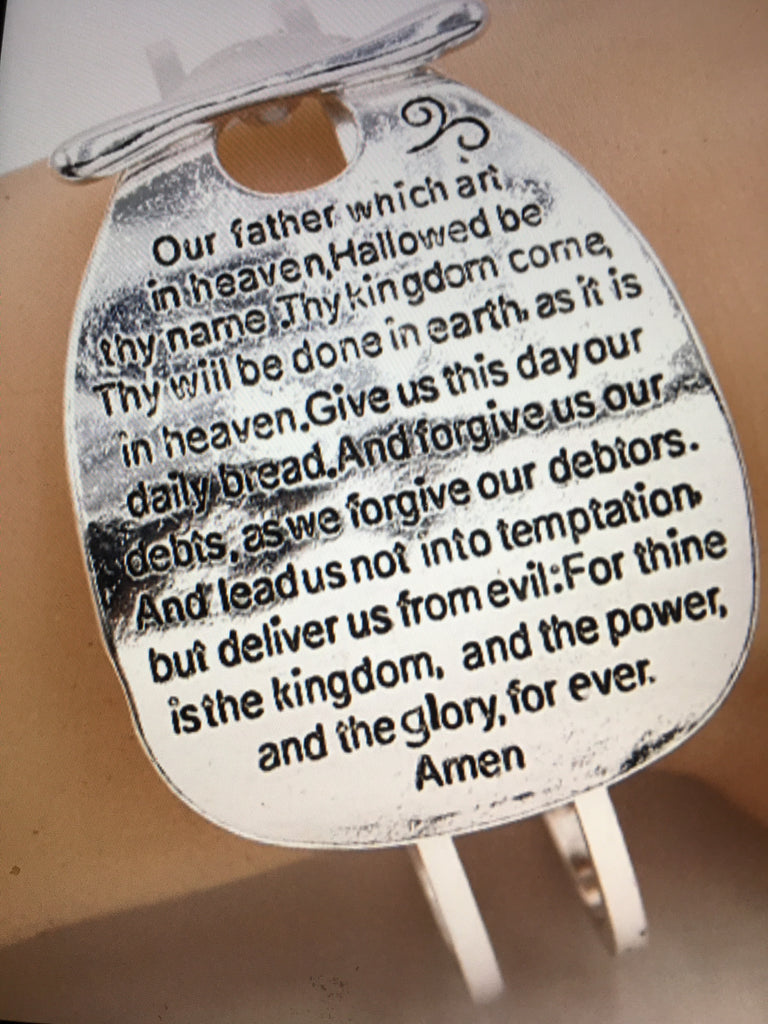 Lords Prayer Cuff Bracelet.